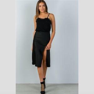 Aritzia Skirts - Black Side Slit Midi Skirt
